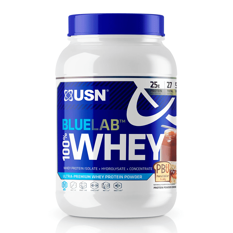 bluelab 100 whey 2 lb peanut butter and jelly