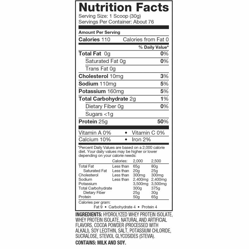 informacion nutricional iso 100 76 porciones