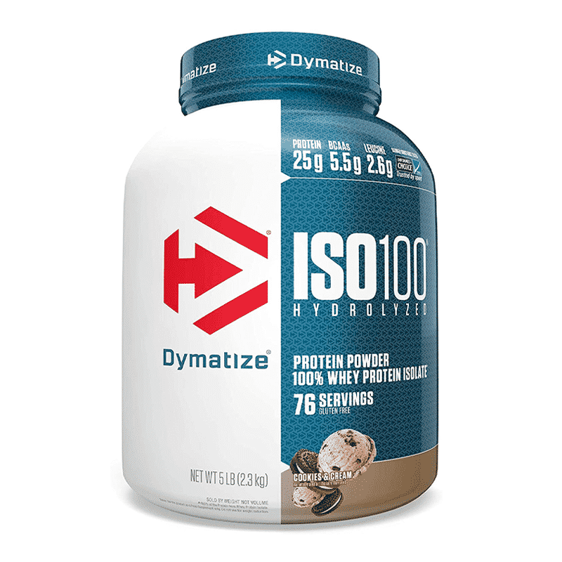 iso 100 hydrolyzed 5lb cookies and cream