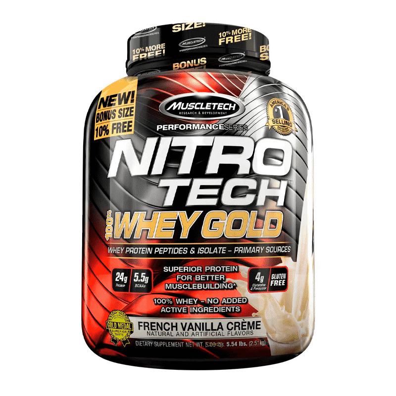 nitro tech 100% whey gold 5,5 lb french vanilla creme