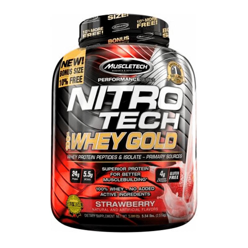 nitro tech 100% whey gold 5,5 lb strawberry