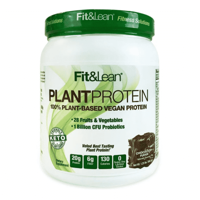 plant protein chocolate fudge fit and lean