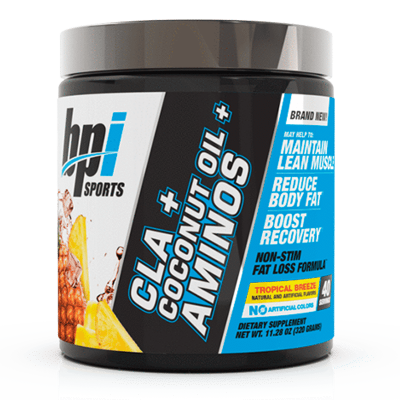 cla + coconut oil + aminos tropical breeze bpi sports
