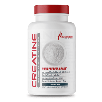creatine unflavored 100 gr metabolic nutrition