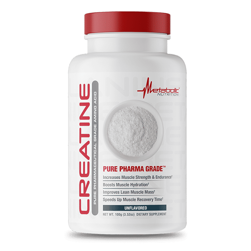 creatine unflavored 100 gr metabolic nutrition