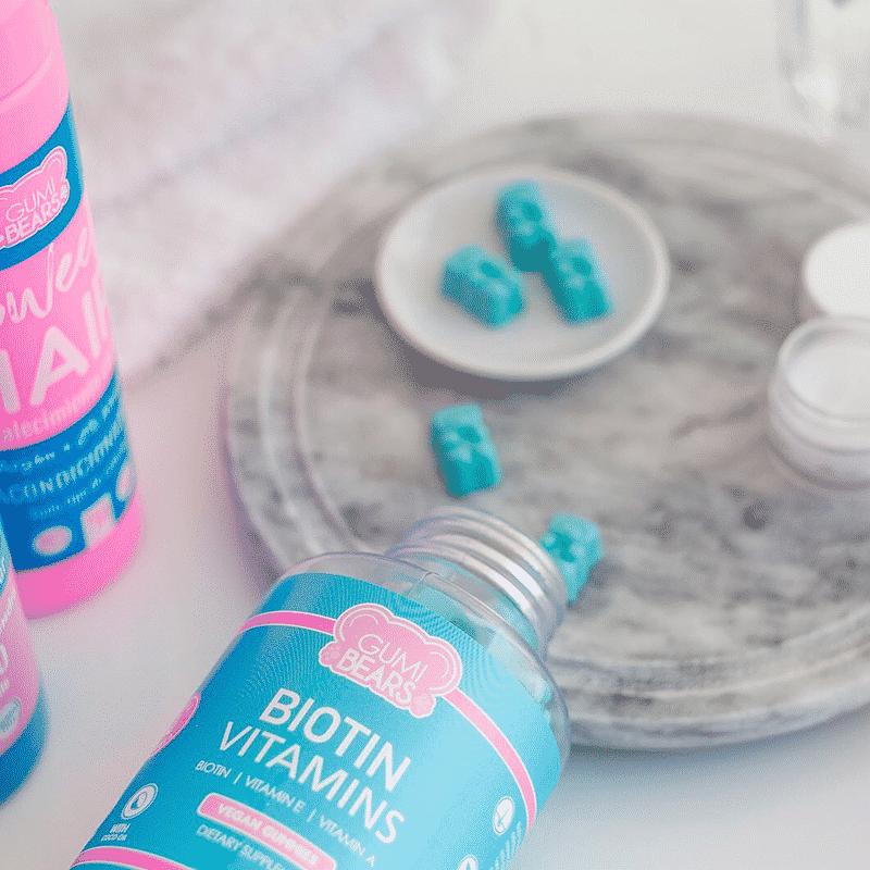 biotin vitamins gumi bears 60 ositos frasco abierto