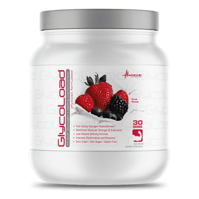 glycoload fruit punch 600 gramos 30 porciones metabolic nutrition