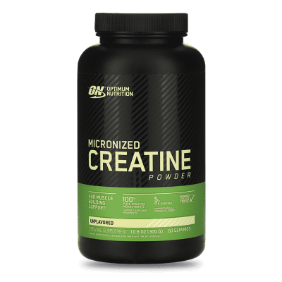 micronized creatine powder sin sabor 300gr 60 porciones optimum nutrition