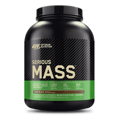 serious mass 6 libras chocolate optimum nutrition