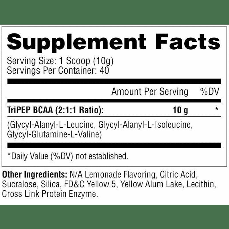 tri-pep-metabolic nutrition información nutricional