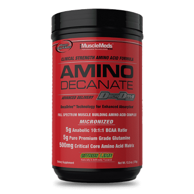 amino decanate citrus lime 360 gramos musclemeds