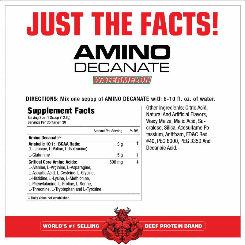 amino decanate watermelon 360 gramos musclemeds tabla nutricional