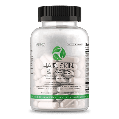 hair skin nails 120 capsulas ultimate nutrition