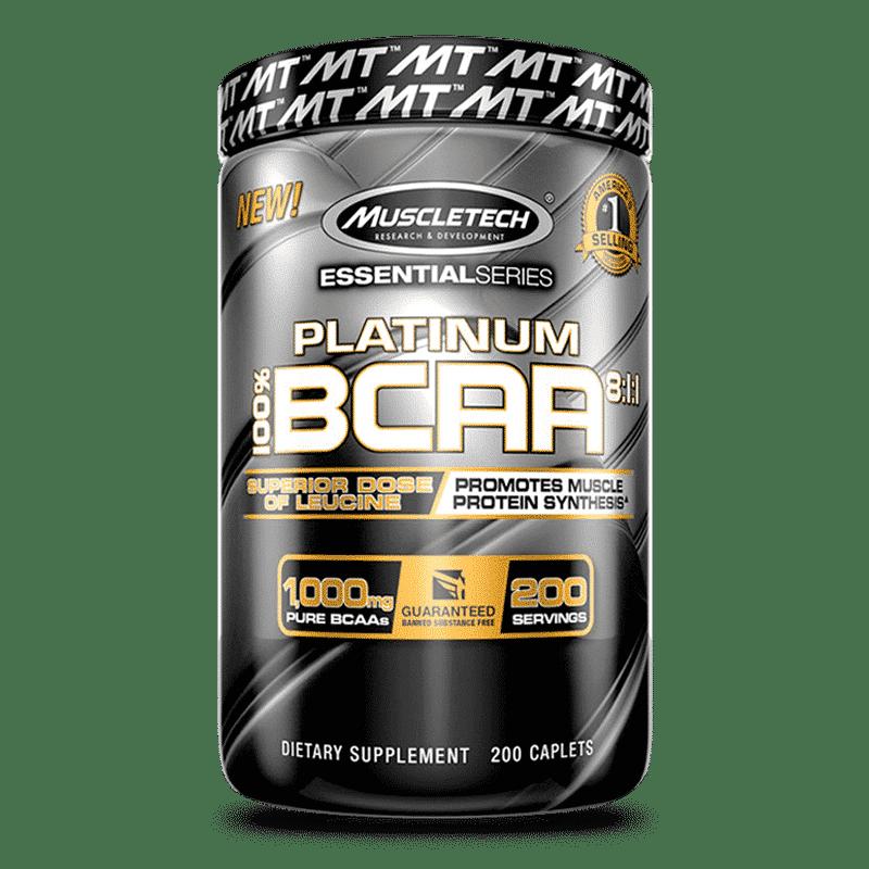 platinum 100% bcaa 200 cápsulas muscletech
