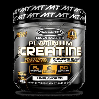 platinum 100 creatine sin sabor 400 gramos muscletech
