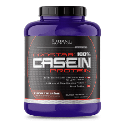 prostar 100 casein protein chocolate creme 5 libras ultimate nutrition