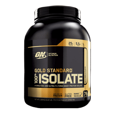 gold standard 100 isolate 5,02 libras rich vanilla flavor optimum nutrition