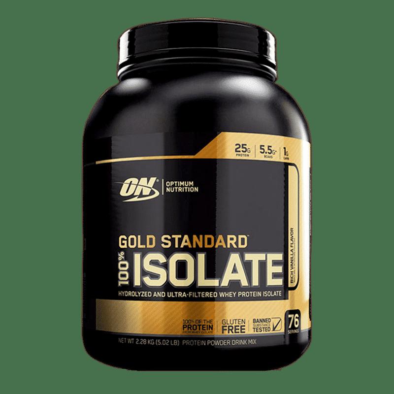 gold standard 100 isolate 5,02 libras rich vanilla flavor optimum nutrition