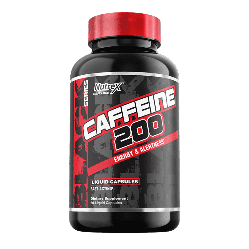 caffeine 200 energy and alertness 60 capsulas liquidas nutrex research