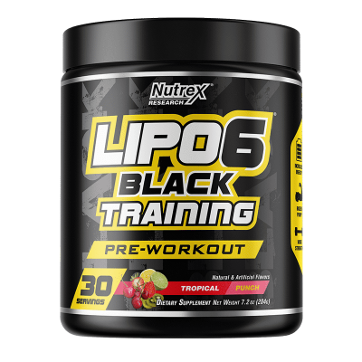 lipo 6 black training tropical-punch-30-porciones nutrex research