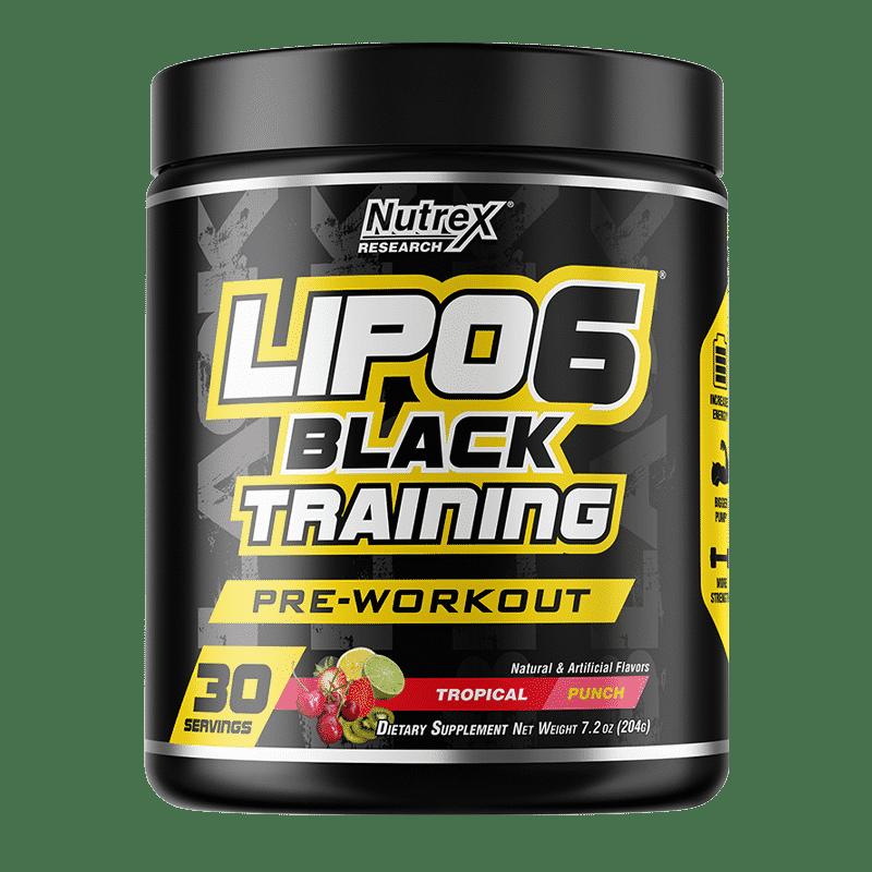 lipo 6 black training tropical-punch-30-porciones nutrex research