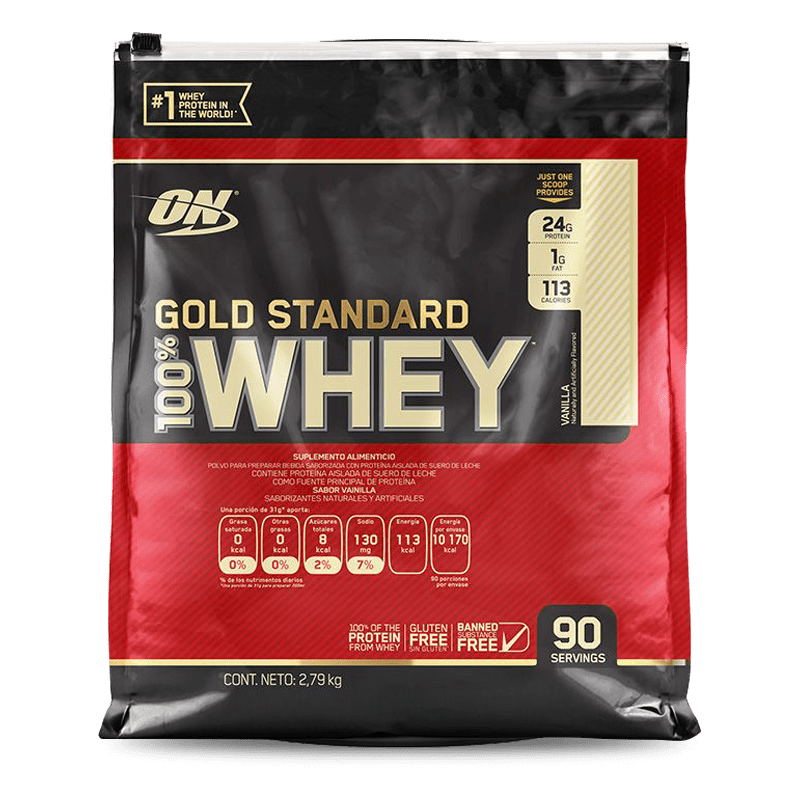 gold standard 100% whey 6,25 libras vanilla sabor optimum nutrition