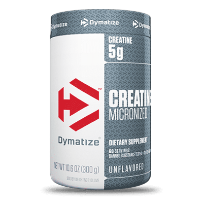 creatine micronized unflavored 300 gramos 60 porciones dymatize