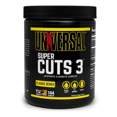 super cuts 3 144 tabletas universal nutrition