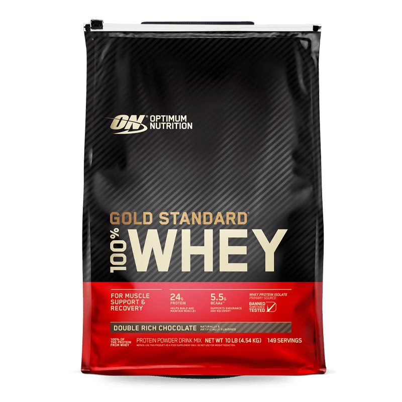 gold standard 100 whey 10 libras double rich chocolate optimum nutrition