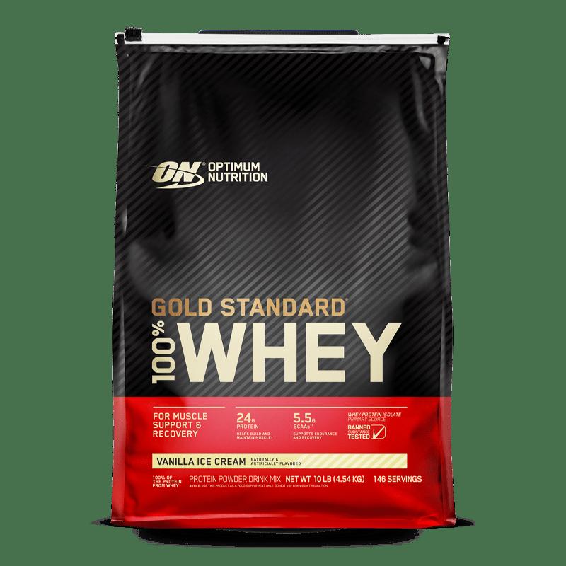 gold standard 100 whey 10 libras vanilla ice cream optimum nutrition