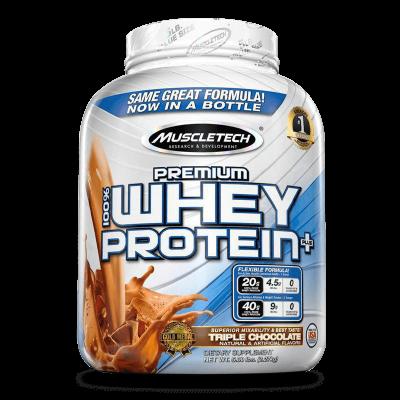 premium 100% whey protein plus triple chocolate 5 libras muscletech